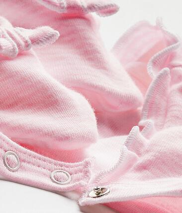 Ensemble béguin et chaussons bébé fille