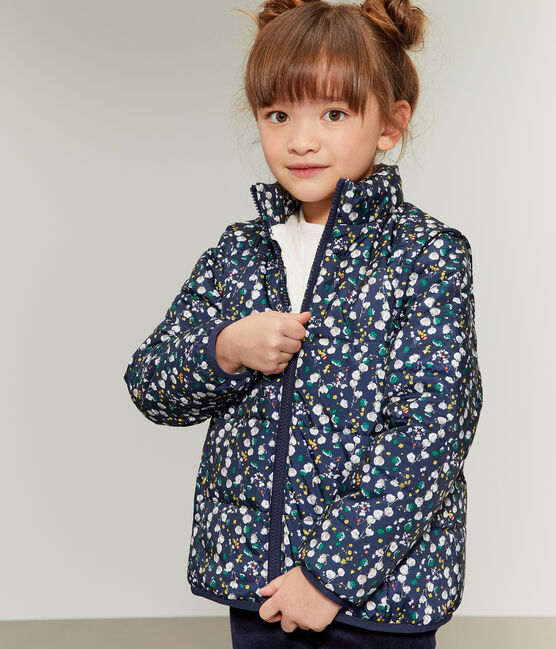 Doudoune 3 en 1 enfant fille bleu Smoking / blanc Multico