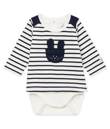 Gestreepte t-shirtbody voor babyjongens