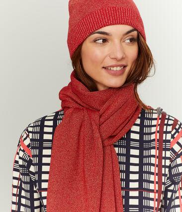 Glanzende vrouwensjaal rood Terkuit / rood Terkuit Brillant