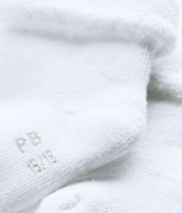 Babysokjes van badstof wit Ecume