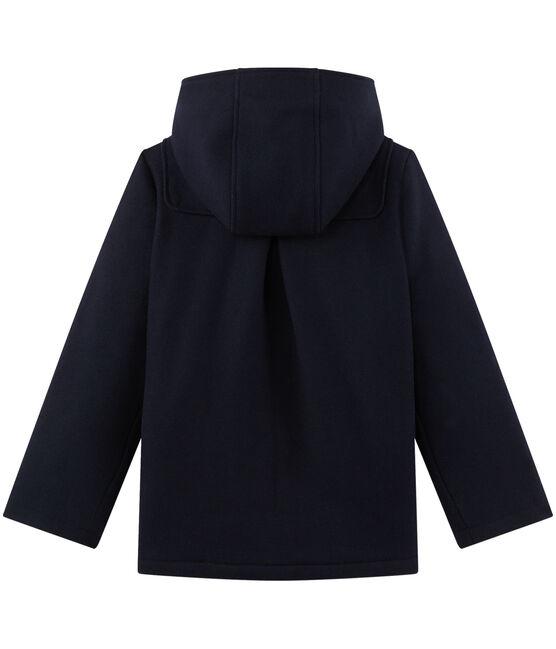 Wollen duffelcoat voor meisjes blauw Smoking