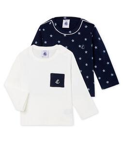 Set van 2 T-shirts lange mouwen babyjongen