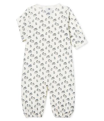 Combitas baby van gebreide stof wit Marshmallow / blauw Toudou