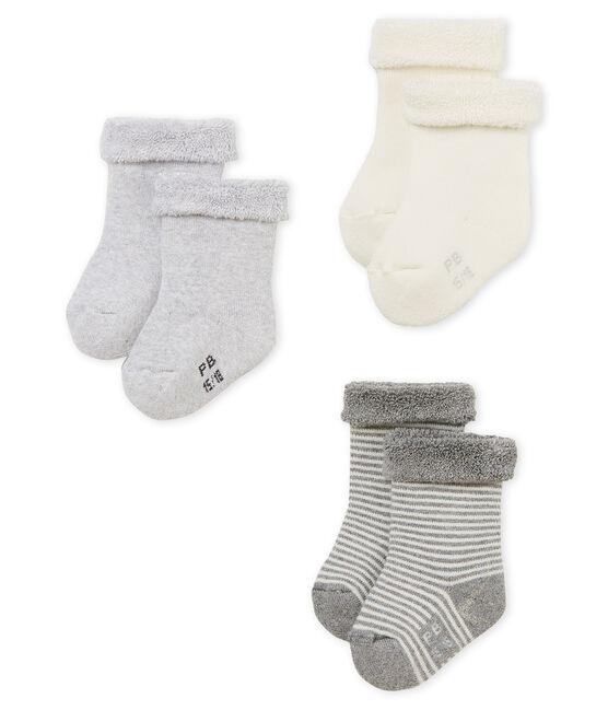 Lot de 3 paires de chaussettes bébé mixte lot .