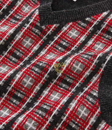Mouwloze trui jongens grijs Subway / wit Multico