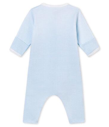 Uniseks pyjama zonder voetjes met geïntegreerde body blauw Fraicheur / wit Ecume