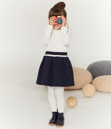 Tee shirt manches longues enfant fille blanc Marshmallow
