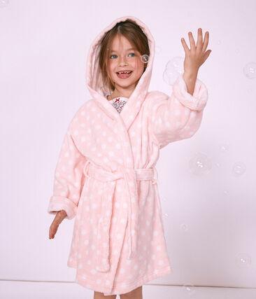 Meisjesbadjas in badstof