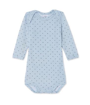 Body met lange mouwen in wol/katoen voor babyjongens blauw Fraicheur / grijs Tempete