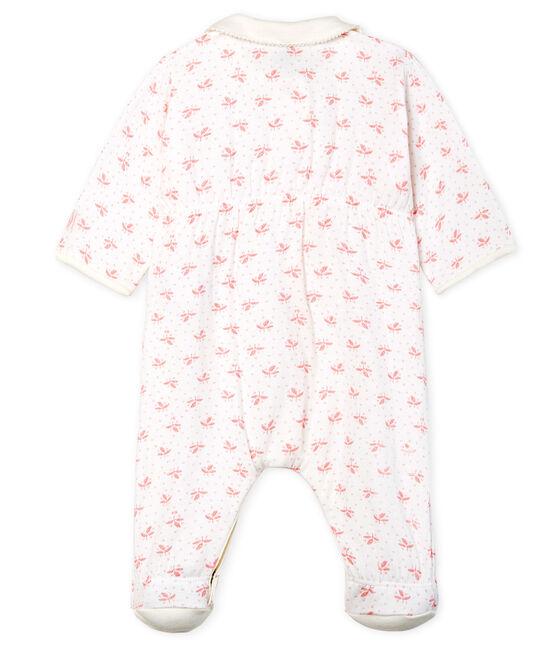 Dors bien bébé fille en tubique blanc Marshmallow / rose Gretel