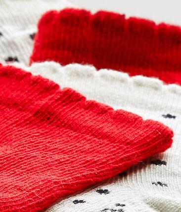 Set van twee paar sokken voor babymeisjes