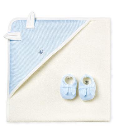 Doos met uniseks badhanddoek en pantoffels
