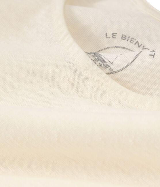 Linnen dameshemd wit Marshmallow