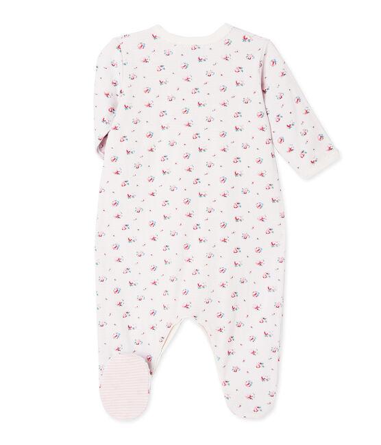 Dors bien bébé fille en tubique imprimé bleu Bocal / blanc Multico
