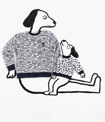 Sweatshirt in samenwerking met Jean Jullien MARSHMALLOW/DASH