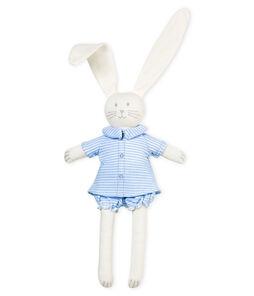 Doudou lapin habillé