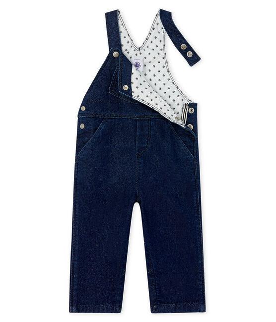 Lange salopette van mesh met denim effect baby gemixt blauw Jean