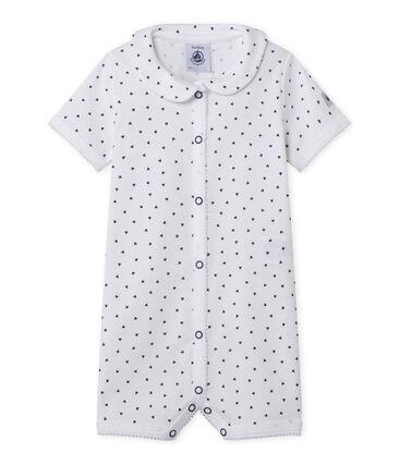 Babypyjama zonder voetjes met hartjesdessin