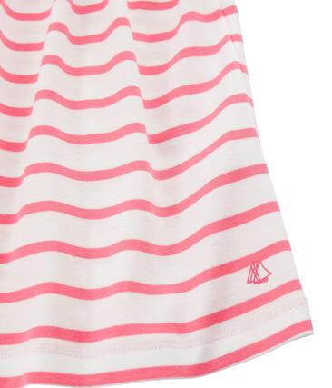 Meisjesjurkje wit Marshmallow / roze Cupcake