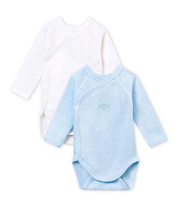 Set van 2 eerste body's voor babyjongens