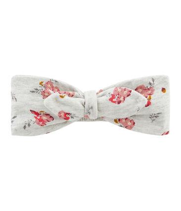 Haarband voor baby meisje grijs Beluga / wit Multico