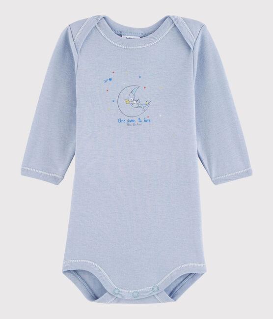 Body manches longues bébé garçon bleu Vanais