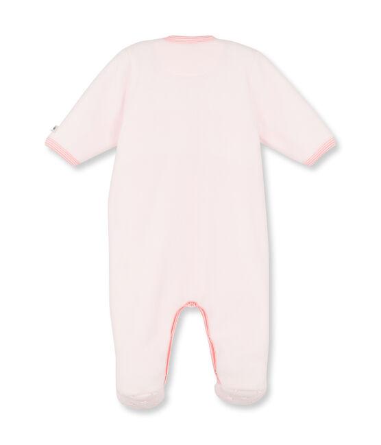 Warme babypyjama in fleece voor meisjes roze Vienne