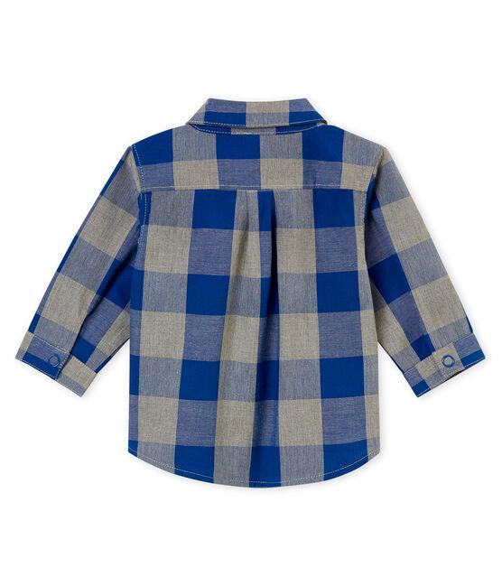 Chemise à carreaux bébé garçon bleu Limoges / blanc Multico