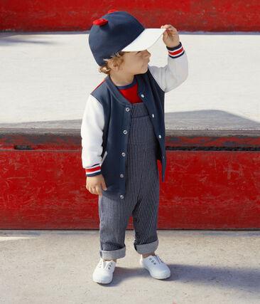 Cardigan in molton voor babyjongens