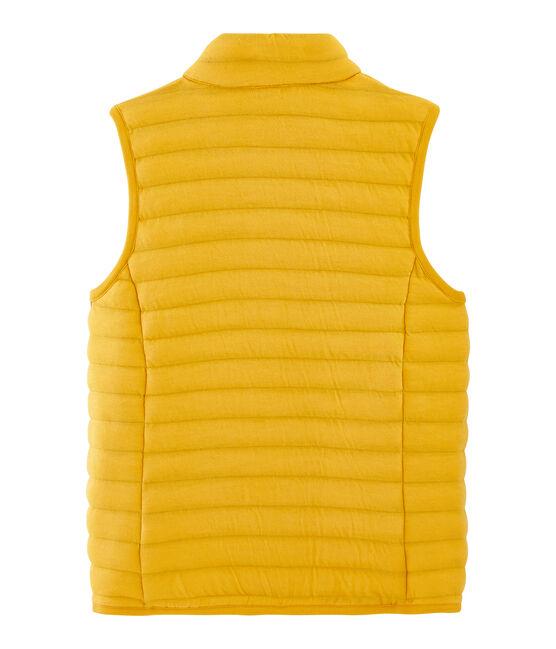Doudoune sans manche tubique femme jaune Boudor
