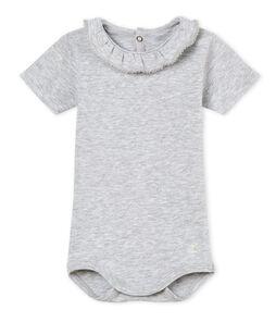 Body met korte mouwen en biesje voor babymeisjes