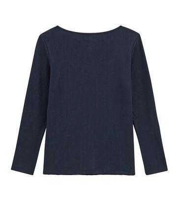 Tee shirt femme manches longues bleu Smoking