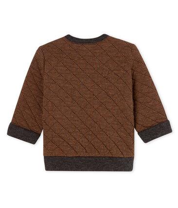 Sweatshirt babyjongen met pied-de-poule print. zwart City / bruin Cocoa