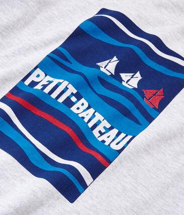 T-shirt met korte mouwen en gemengd motief.