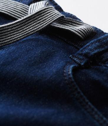 Uniseks babybroek in tricot met denimeffect
