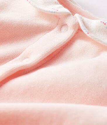 Fluwelen slaappakje babymeisje roze Fleur