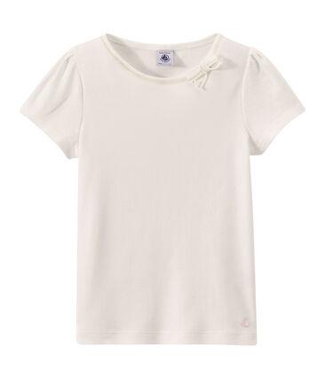 T-shirt fille à petit nœud