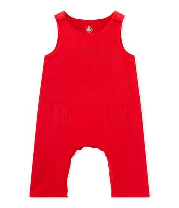 Salopette bébé garçon en velours rouge Froufrou