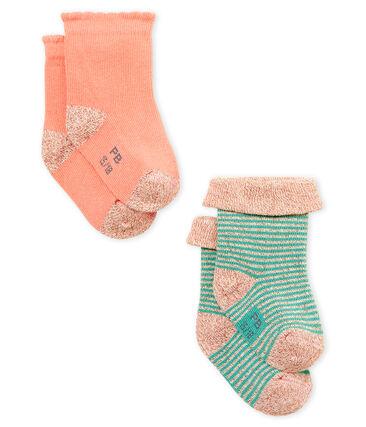 Set van 2 paar sokken voor babymeisjes