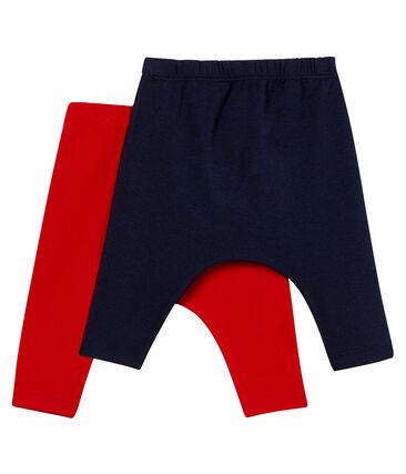 Lot de 2 leggings bébé mixte