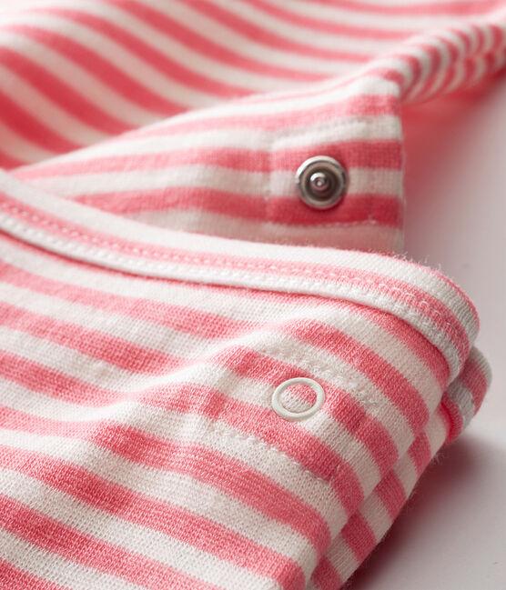 2-in-1 body met lange mouwen voor babyjongens roze Cheek / wit Marshmallow