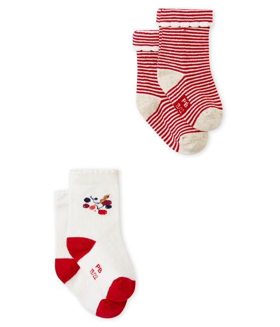 Set van 2 paar sokken voor babymeisjes set .