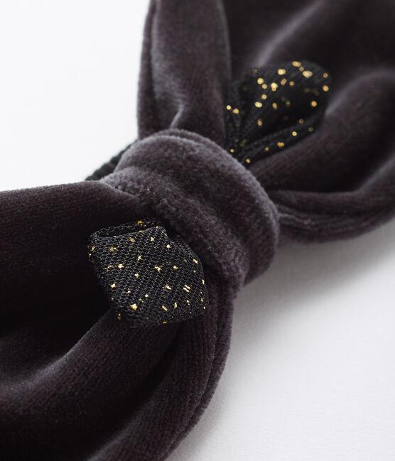 Haarband voor baby meisje grijs Capecod / geel Or