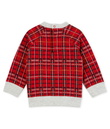 Sweatshirt bébé garçon en maille à carreaux