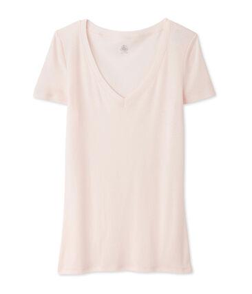 Dames-t-shirt met korte mouwen uit licht katoen