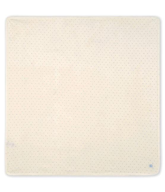 Babylaken van gebreide stof wit Marshmallow / grijs Sculpture