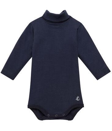 Body bébé à col roulé bleu Smoking