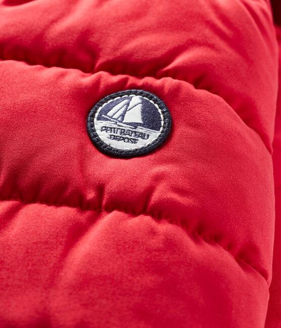 Donsjack van microvezel babyjongen rood Terkuit