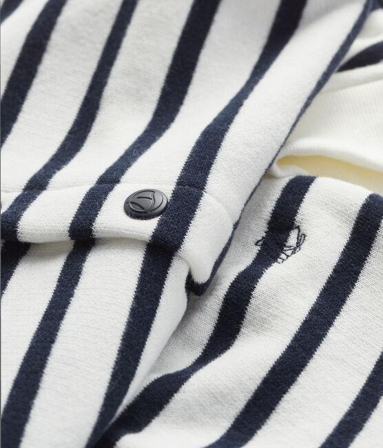 Ensemble jogging et sweatshirt blanc Marshmallow / bleu Smoking